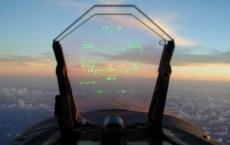 Aqui o HUD - Head Up Display - de um F/A-18 C