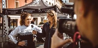 La Team PEUGEOT Cycles sur le podium lors de la 3ème manche des World E-bike Series (WES) à Bologne (Italie)
