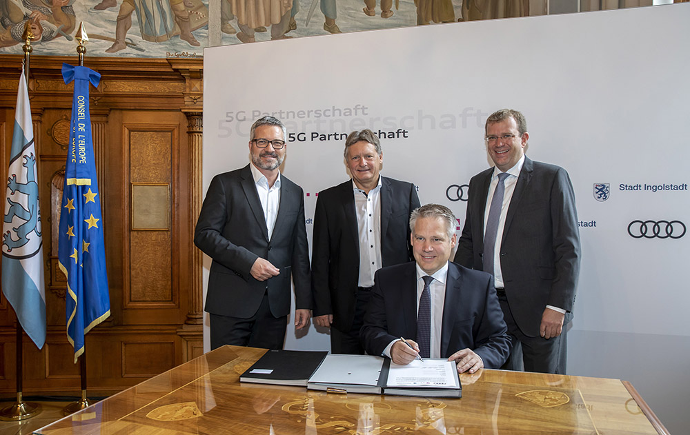 Audi, the city of Ingolstadt and Telekom cooperate on 5G technol