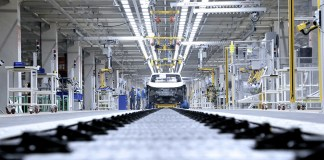 Nouvelle ligne de production de Volkswagen en Chine.