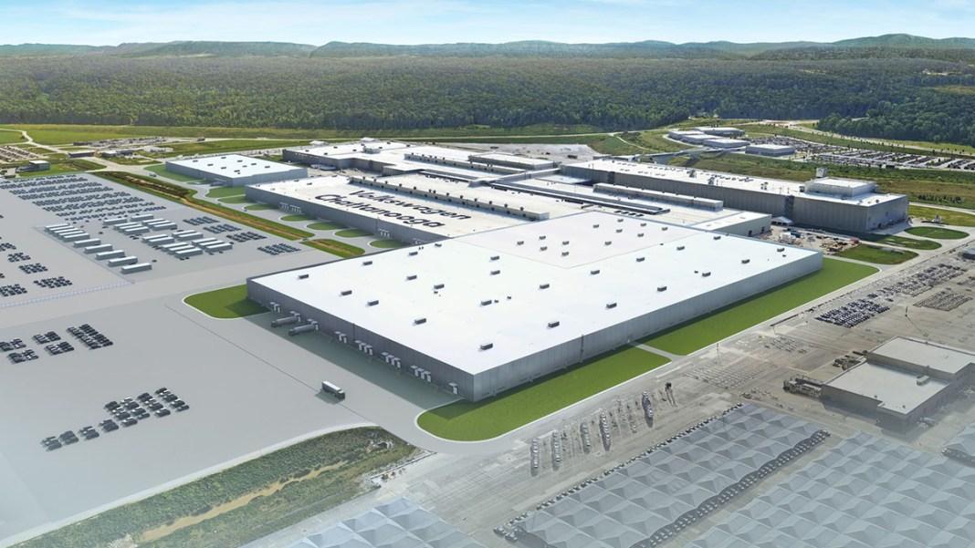 Usine de Volkswagen dédié à la production de véhicules électriques aux États-Unis