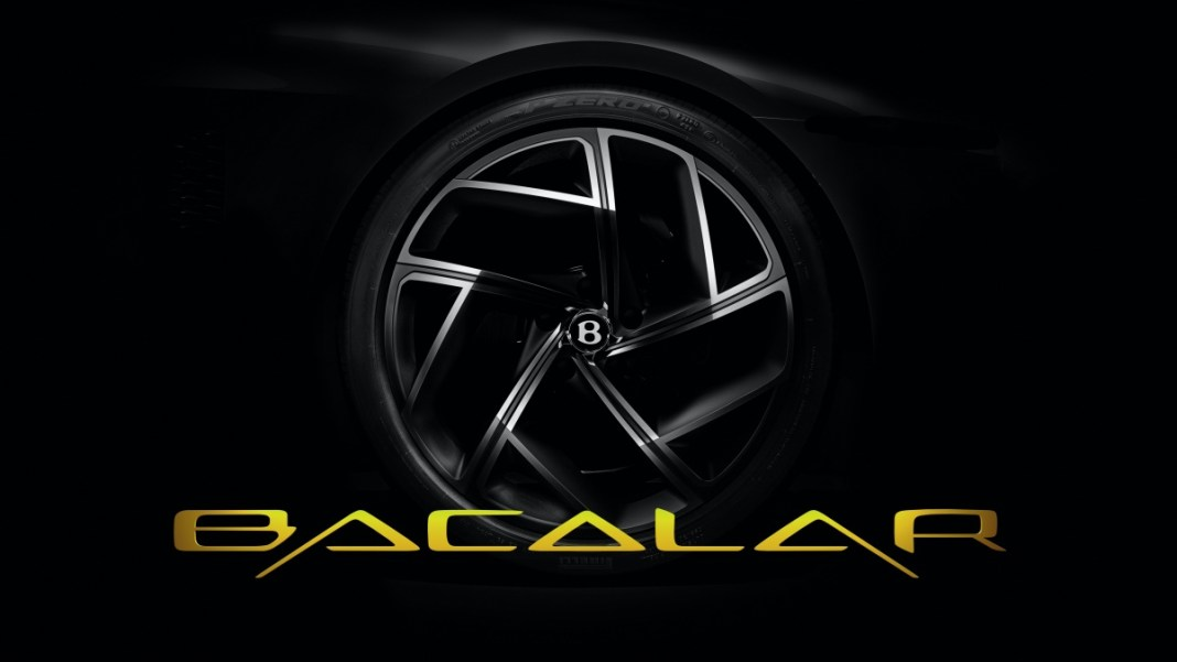 Bentley Mulliner Bacalar Teaser