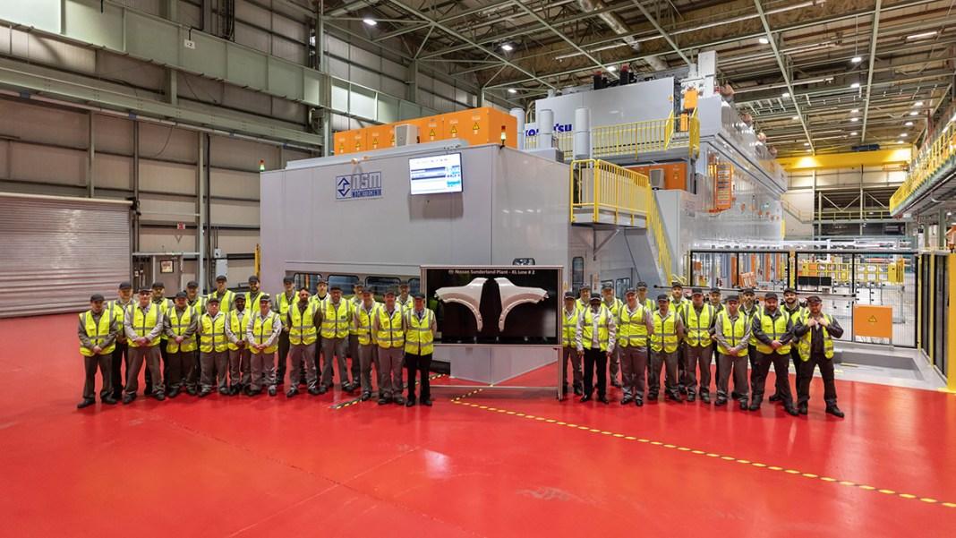 Nissan inaugure une nouvelle ligne d'emboutissage dans l'usine de Sunderland pour le lancement du prochain Qashqai