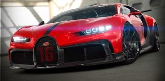 Plus de 2,4 millions d'essais virtuels de la Bugatti Chiron Pur Sport