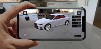 Lexus dévoile son application de réalité augmentée à l'occasion du lancement de la nouvelle IS 2021