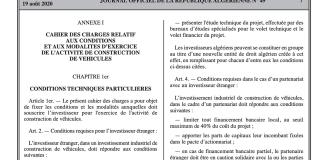 Les nouveaux cahiers des charges publiés au journal officiel