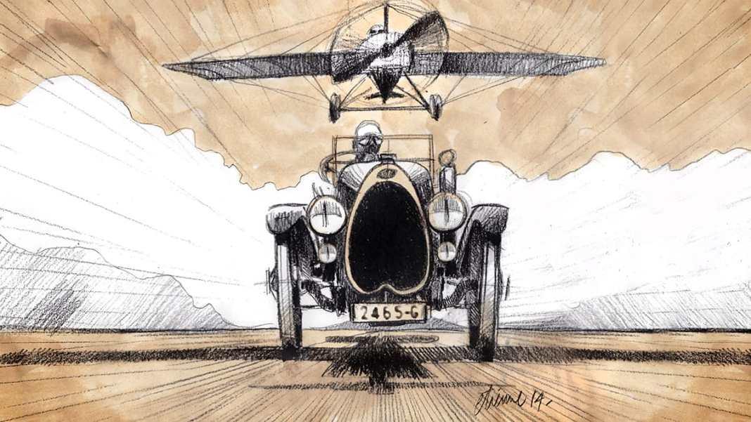 Les risque-tout chez Bugatti – entre l'avion et la voiture de course