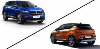 Dacia Duster vs Renault Captur