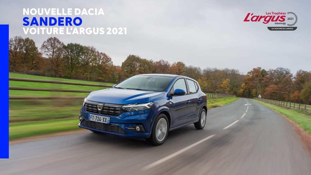 2021 - Dacia Sandero voiture Largus de lanne 2021
