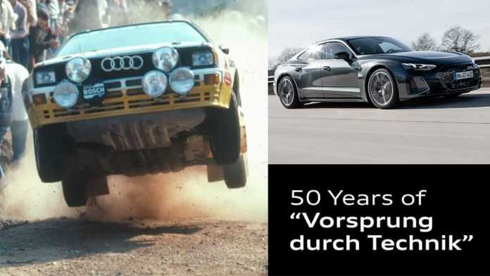 Audi fête les 50 ans du -Vorsprung durch Technik