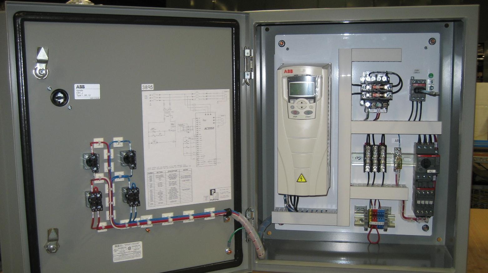 hight resolution of duplex pump panel with vfd