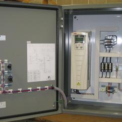 Single Phase Water Pump Control Panel Wiring Diagram Carrier Air Conditioner Thermostat Sje Rhombus Weg