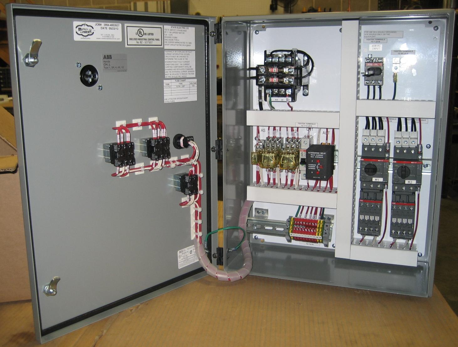 3 Phase Wiring Schematic Symbols Custom Pump Control Panel Experts State Motor Amp Control
