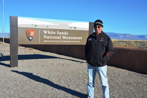 Cuando llegamos a White Sands, todavía hacía buen sol, pero no duraría mucho.