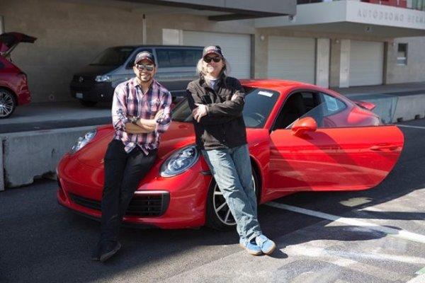 Con el boricua Roberto Mercado de la página de noticias EnVivoPR.com. Foto: Mauricio Carrera para Porsche