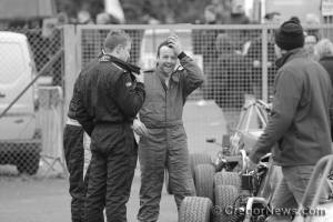 A bit of post race banter in Parc Ferme! Image from Cregor Elliott