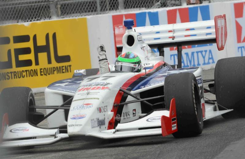 Conor winning at Long Beach in 2011, driving for Sam Schmidt Motorsports in the Firestone Indy Lights race