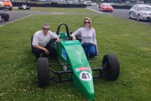 Aimee with her new car and Mondello Chief Instructor Ken Elliott.