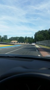 Checking out the track in the Nissan Juke!