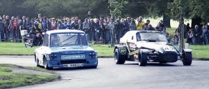 Hall battles Keaney in the famous GT race.