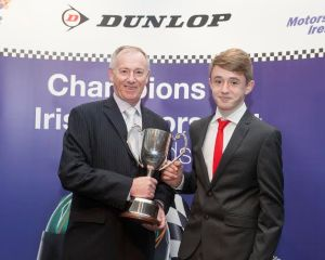 No Repro Fee 2/12/2015Outstanding Motorsport Achievement Awards AnnouncedThe National Mini Max Champion and winner of the Minimax Perpetual Trophy went to Harry McGovern (right) from Sandyford in Dublin, presented by Brian Kavanagh, at the Dunlop Motorsport Ireland Awards Ceremony at The Double Tree Burlington Hotel in Dublin recently (2/12/2015). Photo: Peter Houlihan