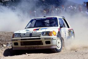 Ari Vatanen (FIN) Terry Harryman (GBR) Peugeot 205 Turbo 16 GrB Peugeot Talbot Sport