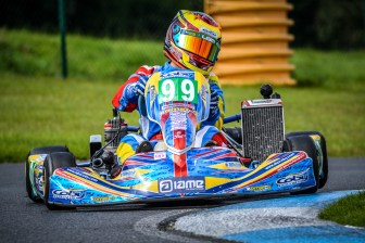 Alyx Coby at Round 7 of the Motorsport Ireland Karting Championship at Whiteriver Park. Photo: Marc Quinlivan