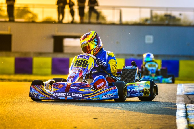 Alyx Coby at the IAME International Final, Le Mans, France. Photo: Marc Quinlivan