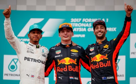 Malaysia GP Podium. Via Red Bull Content Pool