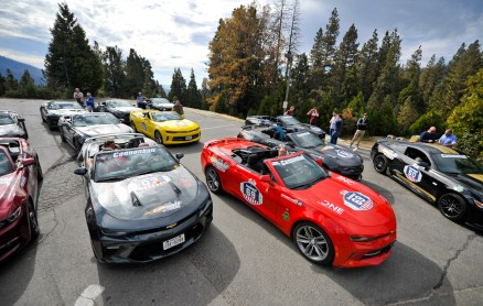 NO FEE PIC 02/11/17: Ireland's CANNONBALL supercar event is currently blazing a trail through America. A group of sixty Irish Cannonballers jetted off from Dublin to San Francisco this week for the largest and most exhilarating foreign CANNONBALL event. The route takes in San Fransisco, Yosemite National Park, Mammoth Lakes, Death Valley, Las Vegas, Hollywood, Los Angeles, Santa Barbara and Santa Maria and Carmel before looping back to San Francisco and Cannonballers are driving in style in a convoy of high performnce convertible Muscle cars including Ford Mustangs, Cameros and Dodge Chargers and a Shelby. Cannonball is an Irish Superrcar Event which has raised almost €1,000,000 for Irish Childrens Charities. Photo: Kasia Farat
