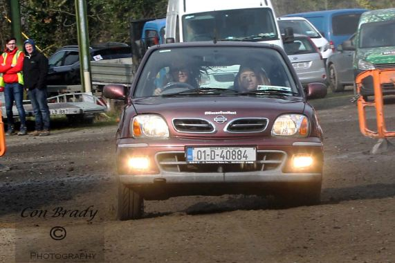 Nicole Drought and Ruth Nugent on the way to victory in Class 1A. Image from Con Brady