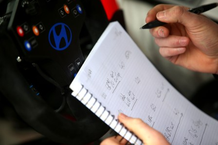Co driver notes