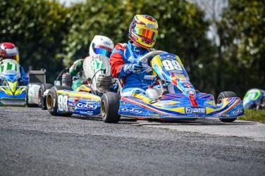 Alyx Coby at Round 3 of the Motorsport Ireland Karting Championship. Photo: Marc Quinlvan