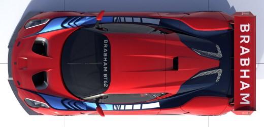 Brabham BT62 Plan View Red
