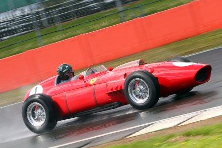 Martin Brundle aboard the Silverstone Classic regular Ferrari Dino 246