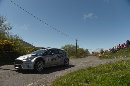 6 May 2018; Robert Barrable and Damien Connolly in a (Ford Fiesta R5) during Day Two of the 2018 Cartell.ie Rally of the Lakes, at Special Stage 13 Brook Hill, Killarney, Co Kerry.