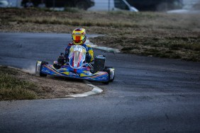 Alyx Coby at Round 5 of the Motorsport Ireland Karting Championship at Mondello Park. Photo: Marc Quinlivan