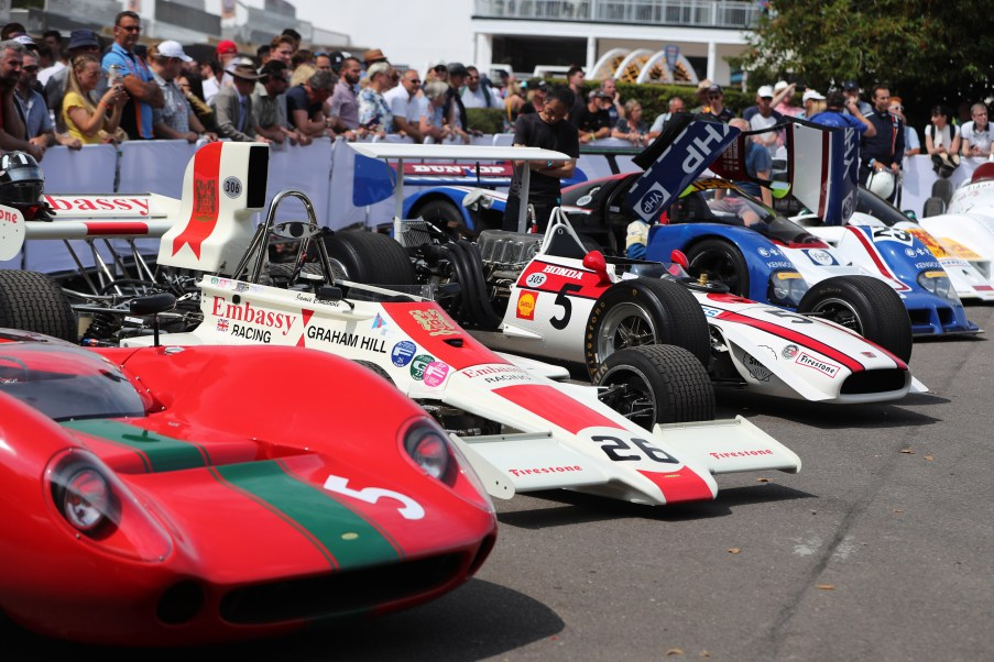 5. Lola cars in assembly area
