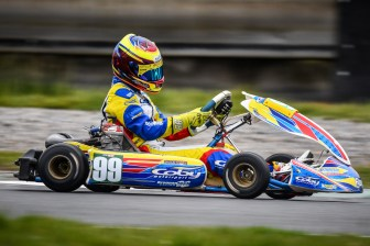 Alyx Coby at Round 1 of the Motorsport Ireland Karting Championship at Mondello Park Photo: Marc Quinlivan.
