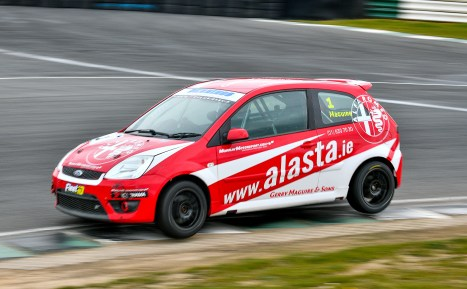 Triple Champion Dave Maguire in the Alasta Car