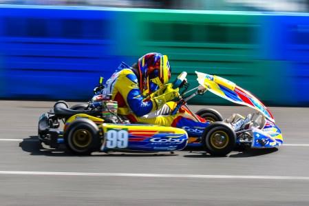 Alyx Coby at Round 3 of the Motorsport Ireland Karting Championship. Photo: Marc Quinlivan