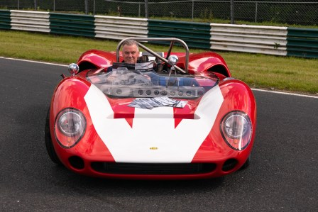 Derry Clarke at the wheel of the Mondello Museum Lola T70- one of the cars which will take to the tyrack at the Mondello Historic Festival on August 17&18