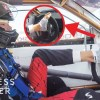 Pro Drifter Drives With His Feet