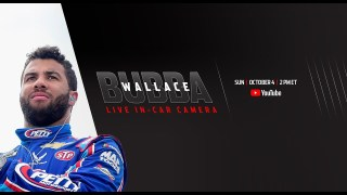 Bubba Wallace live in-car camera presented by Coca-Col | NASCAR Playoffs at Talladega Superspeedway