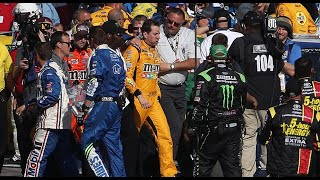 Throwback: Kyle Busch, Joey Logano tangle on Vegas pit road in 2017   NASCAR Cup Series