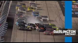 WRECKS on restarts from Darlington Raceway | NASCAR Trucks Series Extended Race Highlights