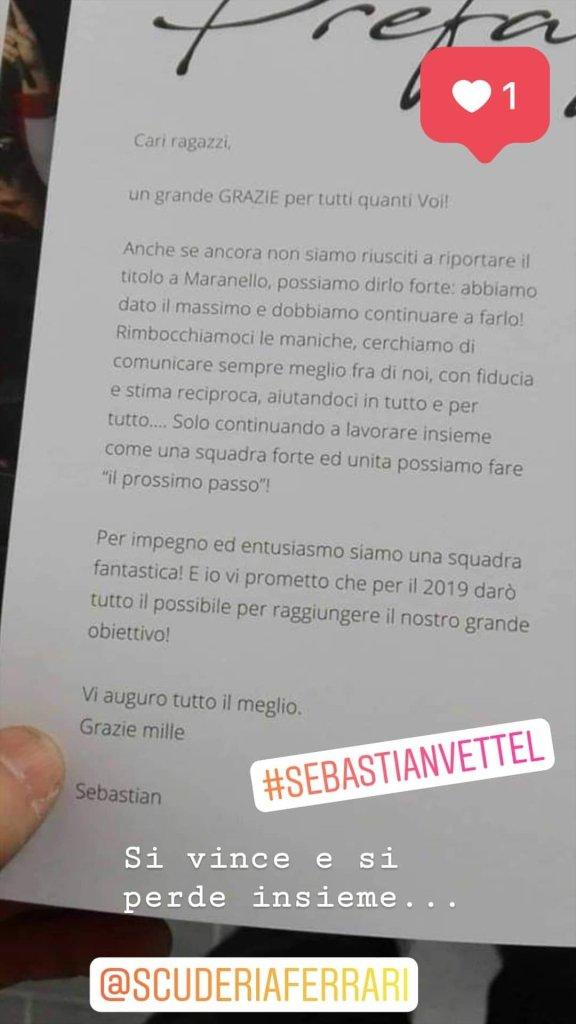lettera vettel