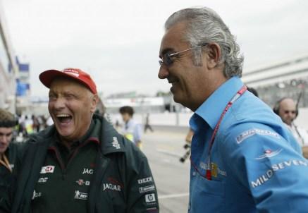 Niki Lauda e Flavio Briatore (Getty Images)