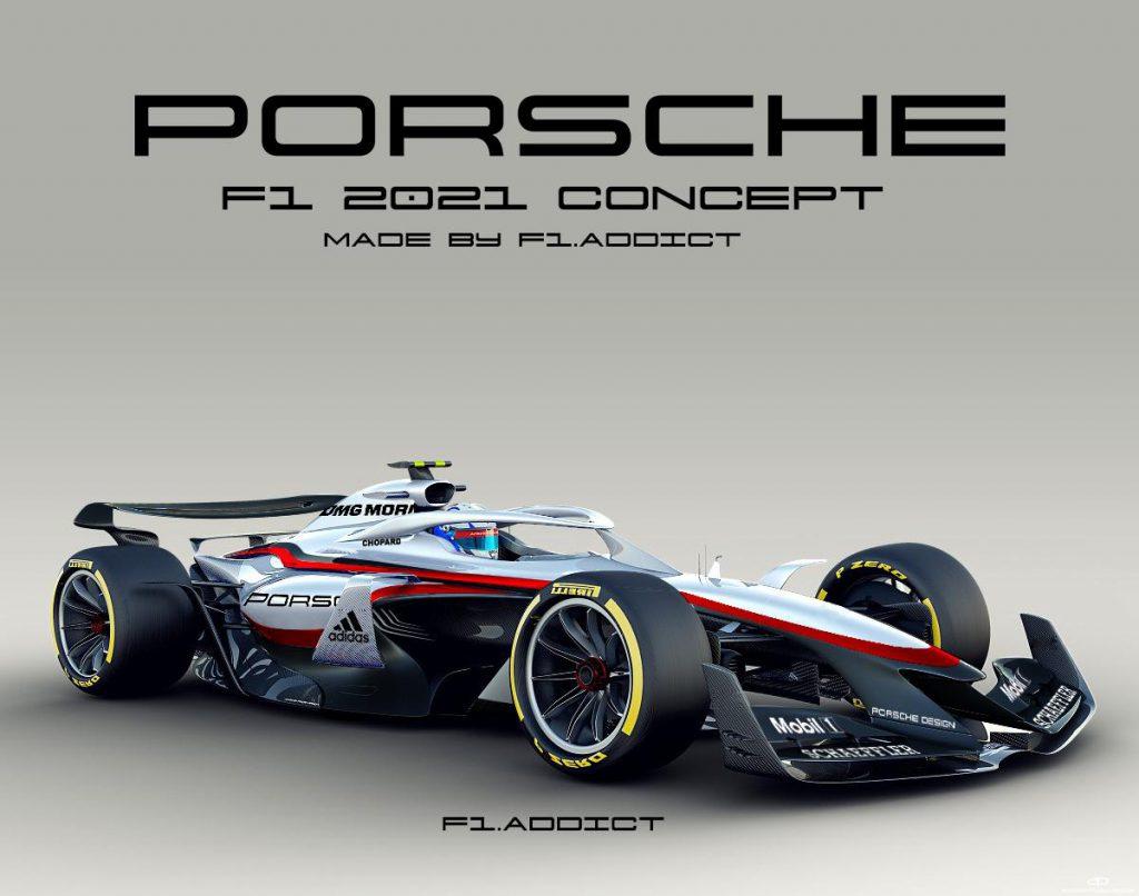 Porsche F1 concept car realizzata da F1 Addict
