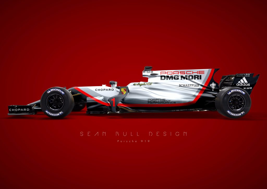 Livrea Porsche F1 realizzata da Seam Bull